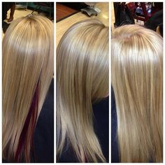 Blonde retouch with peekaboo - Shelby Scott