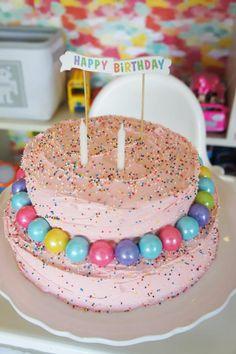 Bubble birthday cake