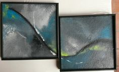 Acrylique abstrait diptyque