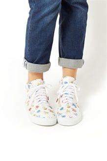 77e6adb2083 Leren Hoge Sneakers BR  Wit - Twins for Peace Mr Men Little Miss