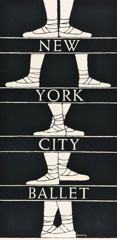 NYCB  poster design from 1974 and the slightly unexpected hand of Edward Gorey.  Ballet Beautiful | ZsaZsa Bellagio - Like No Other