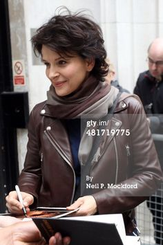 Juliette Binoche seen at BBC Radio 2 on March 31 2014 in London... News Photo 481719775