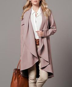 Another great find on #zulily! Mink Drape Coat #zulilyfinds