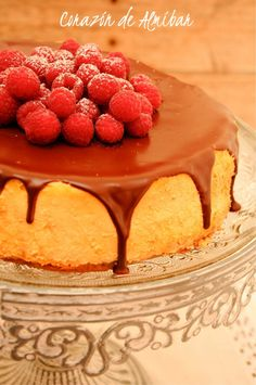 New York Cheesecake con chocolate / http://www.cocinaconana.com/