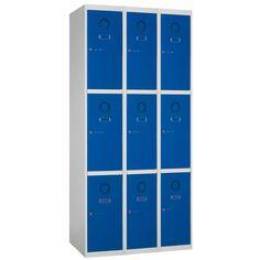 Taquilla metálica modular económica ECOM-30/3, de tres cuerpos y tres puertas