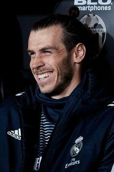 Gareth Bale of Real Madrid looks on prior to the La Liga match...