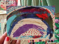POSTCARD  Blue Arch snail mail that is also a small fine art print by Rina Miriam Drescher on Etsy