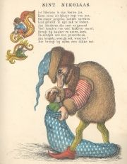 Tante Keetjes prentenboek / Tante Keetje. - Zwolle : H.L. van Hoogstraten, [1854]. - [20] bl. : gekl. ill. ; 28 cm  Op titelpagina: Kleurend...