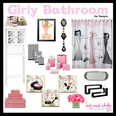 Bathroom decor on pinterest property brothers bathroom for Girly bathroom accessories