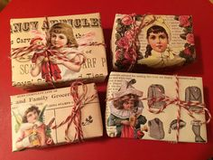 Wings of Whimsy: DIY Vintage Wrapping - Square & Simple