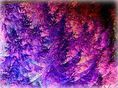 Vibrant Fantasy Trees Digital Edit of My by LightsavoursCorner