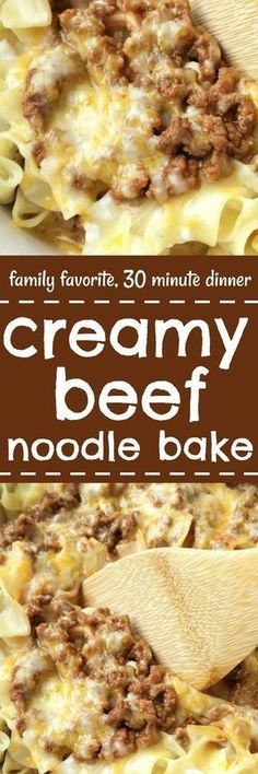 Tender egg noodles, melty cheese, and a creamy tomato ground beef mixture make for one amazing, and family-friendly dinner! The entire family will love this simple and easy creamy beef noodle bake. It's a family favorite that can be on the dinner table in