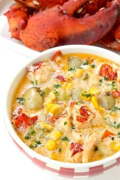 Lobster Corn Chowder is the most epic summer time chowder!