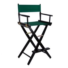"""American Trails Extra-Wide Premium 30"""" Directors Chair Black Frame W/Hunter Green Color Cover - 206-32/032-32"""