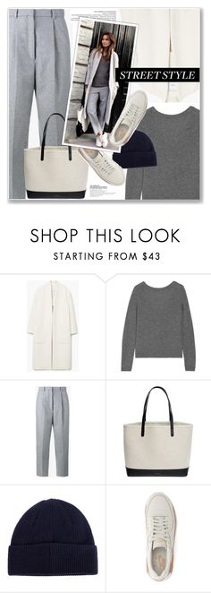 """""""STREET STYLE"""" by nanawidia ❤ liked on Polyvore featuring MANGO, Equipment, Acne Studios, Mansur Gavriel, Barbour and NIKE"""