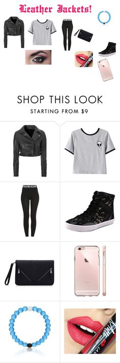 """""""Leather Jackets Contest!"""" by ivieoww ❤ liked on Polyvore featuring Glamorous, Chicnova Fashion, Calvin Klein, Rebecca Minkoff and Fiebiger"""