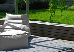 Site Pouf and Armchair for a comfortable outdoor living