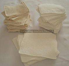 lingettes lavables #Tuto choix de tissu bio bambou coton tencel
