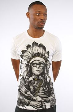 The New Age Chief V2 Tee in White by Rook $24.00