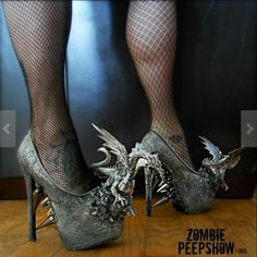 DIY Shoe adornment by Etsy seller Zombie Peepshow