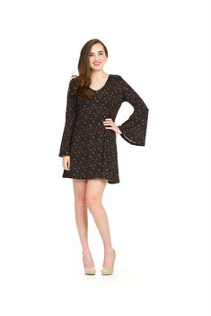 Papillon  Bell Sleeve Fit & Flare Dress in Dresses