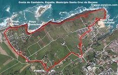 RUTA DE LAS TRES PLAYAS  Municipio de Santa Cruz de Bezana. Cantabria. España  Unos 7 km por la costa y parte de Soto de la Marina