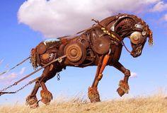 Scrap Metal Animal Sculptures of John Lopez.