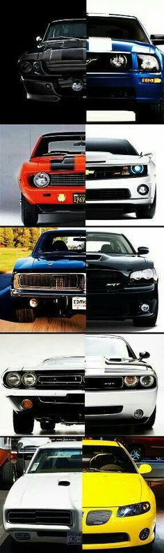Old and new muscle cars