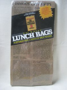 Vintage Eat N' Read Lunch Bags FACTORY SEALED by VintageByThePound on Etsy