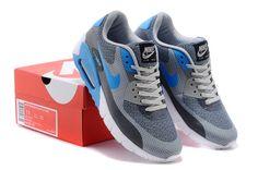 new concept cd513 ce95f Pas Cher Nike Air Max 90 JCRD Chaussures De Sport Pour Femme Bleu Ciel Gris  Blanc