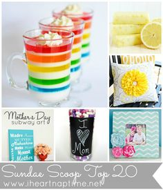 Top 20 crafts and recipes from this week's Sundae Scoop!