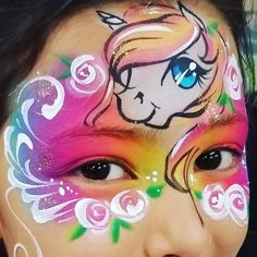Fox Face Paint, Face Painting Unicorn, Unicorn Mask, Theatre Makeup, Face Painting Designs, Face Art, Face And Body, Painting Inspiration, Hanging Out