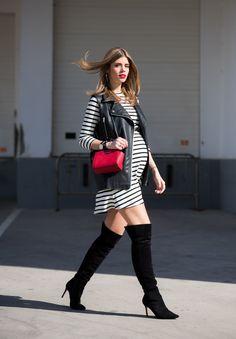 pregnancy | maternity | Ms Treinta - Blog de moda y tendencias by Alba. - Fashion Blogger -: STRIPED DRESS