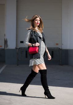 pregnancy | maternity | Ms Treinta - Blog de moda y tendencias by Alba. - Fashion Blogger -: STRIPED DRESS