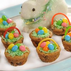 Chocolate Chip Cookie Easter Baskets