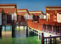 Iran First marine hotel opens in Kish Island  Located in Persian Gulf Island of Kish, Iran's first marine hotel 'Toranj' has recently been launched. The water villas are connected and shaped as Paisley, an Iranian national symbol.  #iFilm