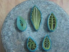 how to make quilling leaves (5 different types)