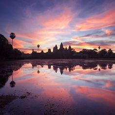 Sunrise in Angkor Wat.Cambodia Angkor Wat is a wonder of Angkor Wat, Travel Information, Cambodia, Places To See, Travel Inspiration, Things To Do, Instagram Images, Around The Worlds, Explore