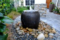 Top Interesting Landscape Water Fountains Design : How To Landscape A Water Fountain. How to landscape a water fountain. water feature for backyard Homemade Water Fountains, Backyard Water Fountains, Garden Water Fountains, Water Garden, Water Fountain Design, Diy Fountain, Waterfall Fountain, Rock Fountain, Diy Water Feature