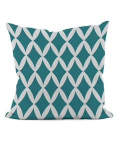 Loving this Lake Blue Diamond Throw Pillow on #zulily! #zulilyfinds