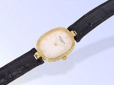 "Armbanduhr: luxuriöse Patek Philippe ""Lady Ellipse"" Damenuhr mit originalem Brillantbesatz, Patek P"