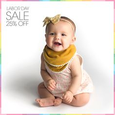 Now through Monday, enjoy 25% Off all Kishu Baby bibs exclusively at kishubaby.com. We have a huge selection of both bandana style bibs and girls' pom pom bibs ready for the taking. Plus get FREE U.S. Shipping on all orders over $48 when you use coupon code FREE48 at checkout.