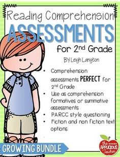 2nd grade Reading Comprehension Assessments. Perfect for progress monitor students growth in reading! $