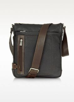 dc3bb3f1b7 Chiarugi - Black And Brown Leather Vertical Messenger for Men - Lyst