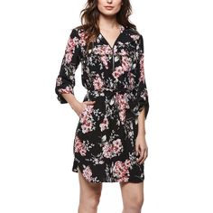 8ebe37227ee Dex Clothing Spring Blossom Zip-Front Dress ( 30) ❤ liked on Polyvore  featuring dresses