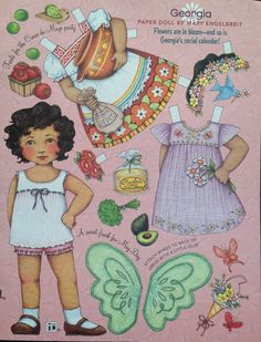 Mary Engelbreit Mag Paper Doll Georgia April May 2006 Uncut | eBay