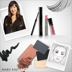 Sally Wang aposta no make fresh, sempre destacando o olhar.