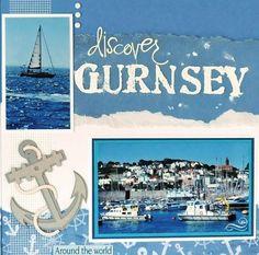 Gurnsey, England - travel layout - Scrapbook.com