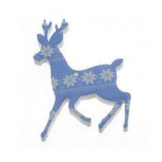 X13 afgedrukt blauwe rendieren charme / / kerst / /  STOCK