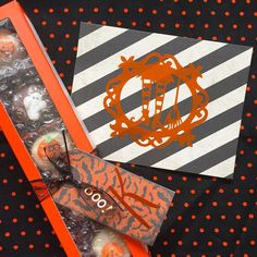 Halloween crafts are so fun! We have some pretty lustre vinyl on the tag and heavy metal on the card! If you want to see it shine head to our Instagram stories!